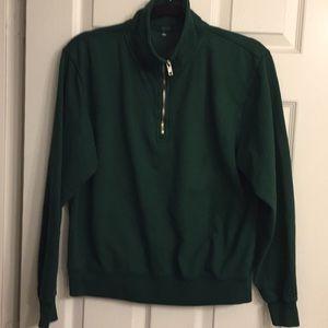 John Galt Green Zip Sweatshirt Green